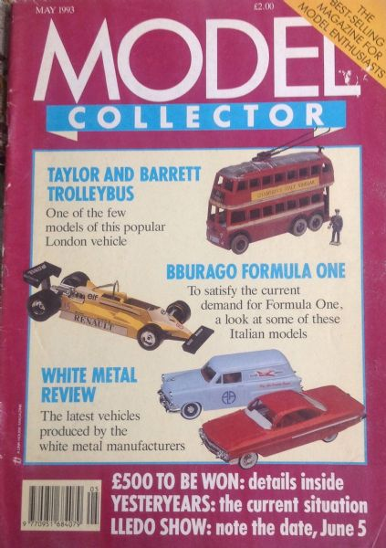 ORIGINAL MODEL COLLECTOR MAGAZINE May 1993